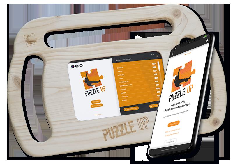 puzzle up application tablette